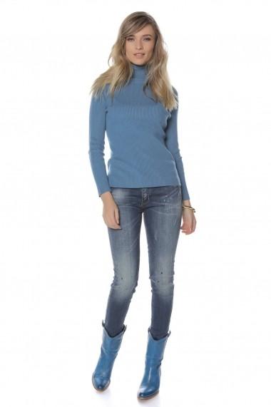 Helanca Roh Boutique albastra, ROH, catifelata - BR2031 albastru