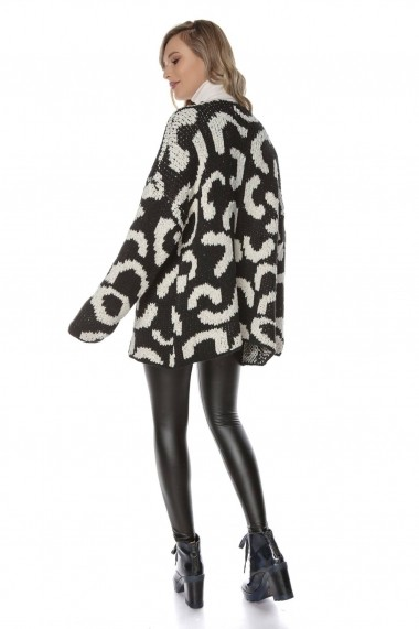 Cardigan Roh Boutique BR2032 Animal Print