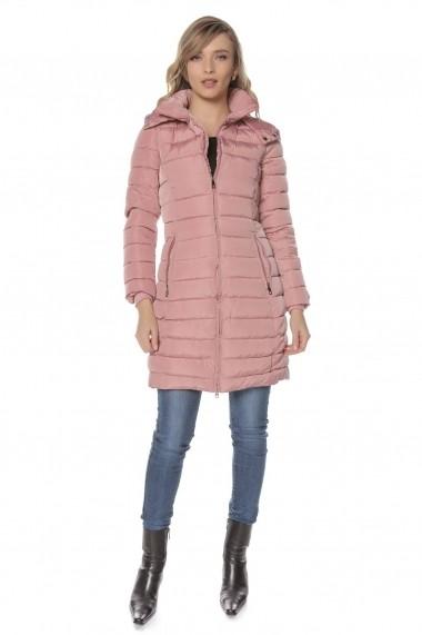 Geaca Roh Boutique roz, ROH, lunga - JR431 roz