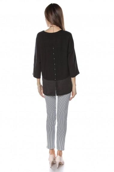 Pulover Roh Boutique fin, elegant, negru, ROH - BR2036 negru