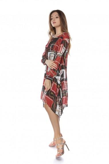 Rochie de zi Roh Boutique midi - DR3717 neagra