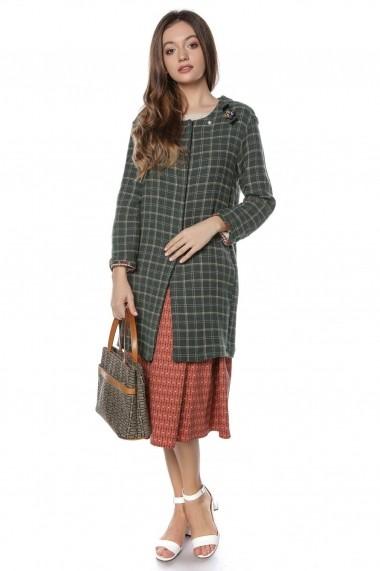 Jacheta Roh Boutique lunga - JR435 Verde|Galbena