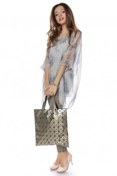 Bluza Roh Boutique delicata Gri, cu imprimeu Florala, ROH - BR2043 Gri|Multicolora