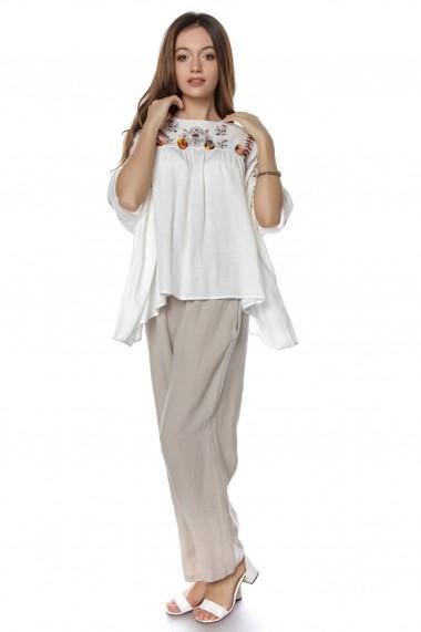 Bluza Roh Boutique Alba, stil fluture, brodata, ROH - BR2056 Alba Multicolora