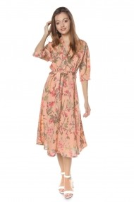 Rochie de zi Roh Boutique midi - DR3736 roz piersica
