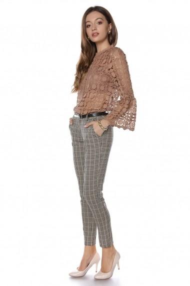 Pantaloni drepti Roh Boutique TR302 Carouri