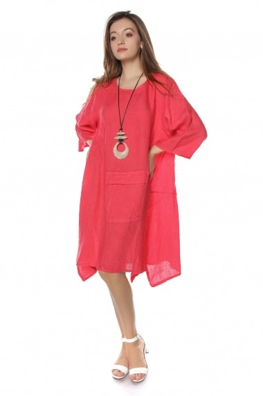 Rochie de zi Roh Boutique midi - DR3714 roz