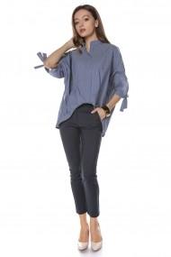 Bluza Roh Boutique stil camasa, denim, ROH - BR2050 denim