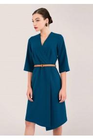 Rochie midi CLOSET LONDON albastra, cu curea - ROH - DR3917 teal