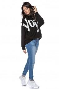 Pulover Roh Boutique tricotat, oversize, cu imprimeu Vogue - Negru - ROH -BR2299 negru