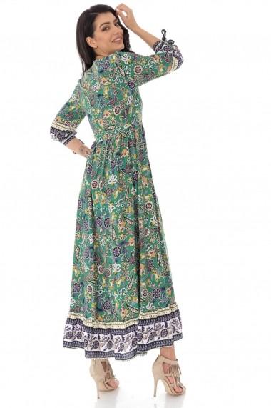 Rochie lunga Roh Boutique maxi cu imprimeu Paisley - Verde - ROH - DR4139 verde