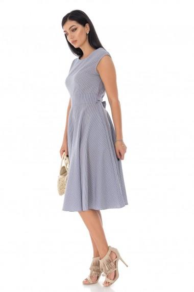 Rochie midi Roh Boutique din bumbac, in dungi - Roh - DR4183 bleu