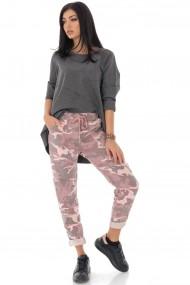 Pantaloni largi Roh Boutique armi, cu aspect sifonat TR402 roz