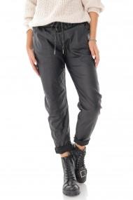 Pantaloni sport Roh Boutique din piele artificiala - Negru - ROH - TR416 negru