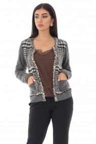 Chanel Roh Boutique Style Cardigan - ROH - BR2347 black/grey