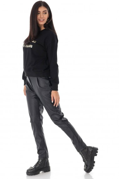 Ladies Roh Boutique sweatshirt - ROH - contrasting gold logo, Black, BR2349 negru