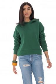 Ladies Roh Boutique casual sweatshirt - ROH - with hood, Green, BR2352 verde
