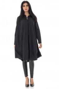 Camasa Roh Boutique de dama, oversize, ROH, neagra, stil rochie - BR2372 negru