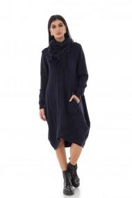 Rochie midi Roh Boutique oversize, ROH, bleumarin, tricotata - DR4239 bleumarin