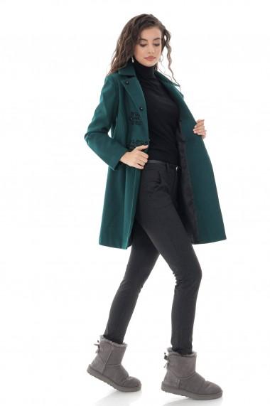 Pardesiu Roh Boutique de dama, Roh, verde, cu broderie - JR532 verde
