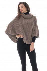 Poncho Roh Boutique gros, mink, tricotat - ROH - BR2378 mink
