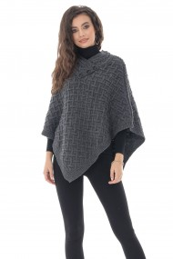 Poncho Roh Boutique superb, gri, din lana - ROH - BR2380 gri