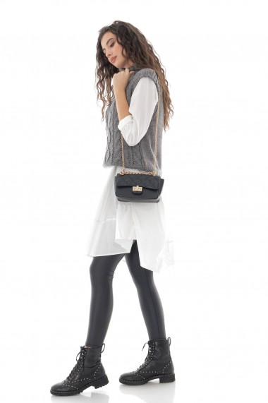 Ladies Roh Boutique Grey High neck cable knitted vest - ROH - BR2389 grey
