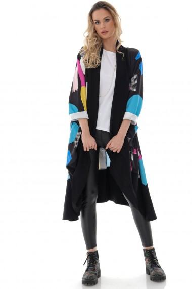 Jacheta Roh Boutique de dama, Roh, multicolora, oversize - JR538 multicolor