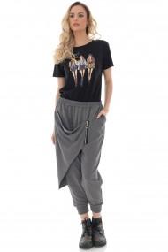 Pantaloni largi Roh Boutique de dama, chic, ROH, gri, lejeri - TR433 gri