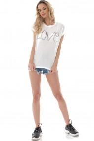 Tricou Roh Boutique de dama, ROH, alb, ''Love'' - BR2407 alb