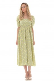 Rochie lunga Roh Boutique midi, ROH, lime, vintage style - DR4262 lime