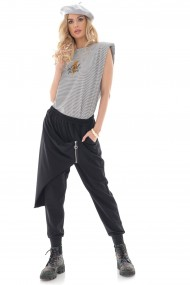 Pantaloni Roh Boutique de dama, chic, ROH, negri, lejeri - TR434 negru