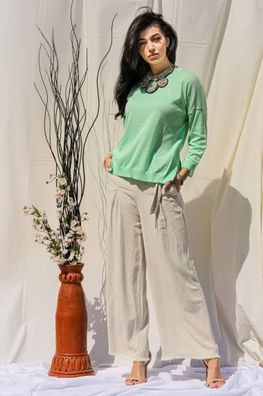 Bluza Roh Boutique de dama, ROH, BR2416, verde, casual, cu nervuri la tiv verde