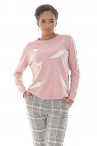 Pulover Roh Boutique de dama, ROH BR2435, roz, cu detalii pe partea din fata pink