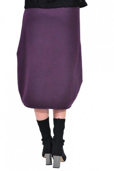 Fusta evazata RVL Fashion asimetrica de dama, mov