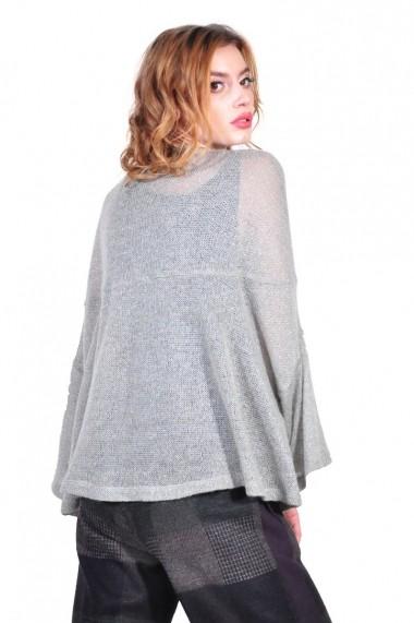 Cardigan RVL Fashion de dama, gri rvl_D2609-gri gri