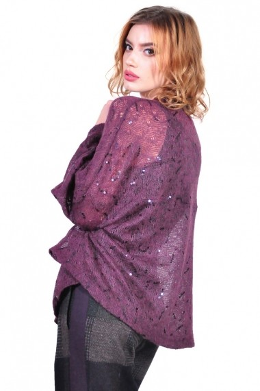 Cardigan RVL Fashion de dama, mov