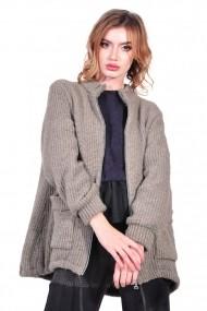 Cardigan RVL Fashion de dama, bej
