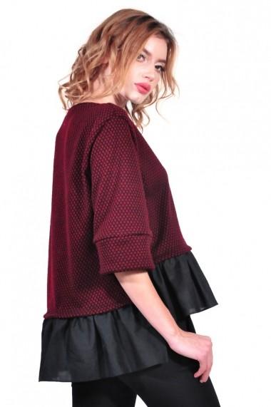 Bluza RVL Fashion de dama, grena