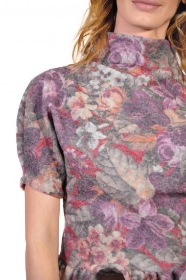 Bluza RVL Fashion de lana imprimata