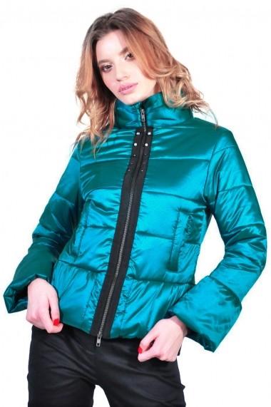 Geaca RVL Fashion scurta de dama, turcoaz