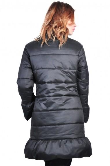Geaca RVL Fashion lunga de dama, negru