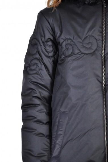 Geaca RVL Fashion neagra lunga
