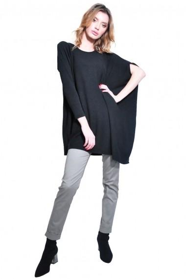 Bluza RVL Fashion asimetrica de dama, negru