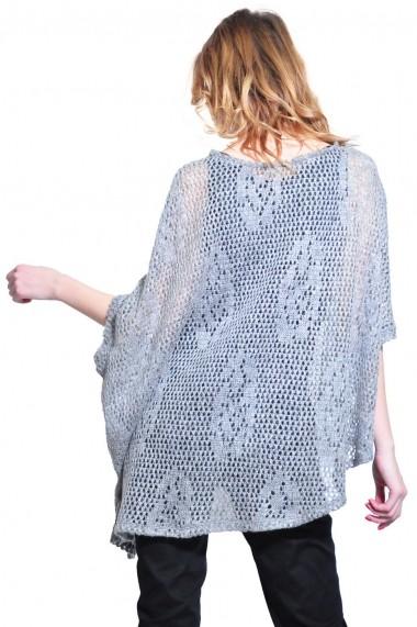 Bluza RVL Fashion asimetrica de dama, gri