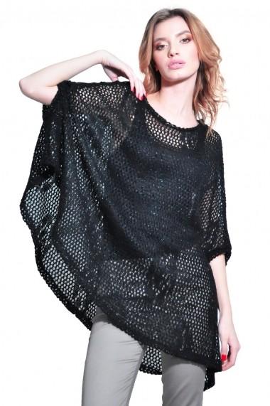 Bluza RVL Fashion asimetrica de dama, negru rvl_D2636-negru negru