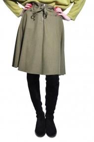 Fusta evazata RVL Fashion de dama, kaki