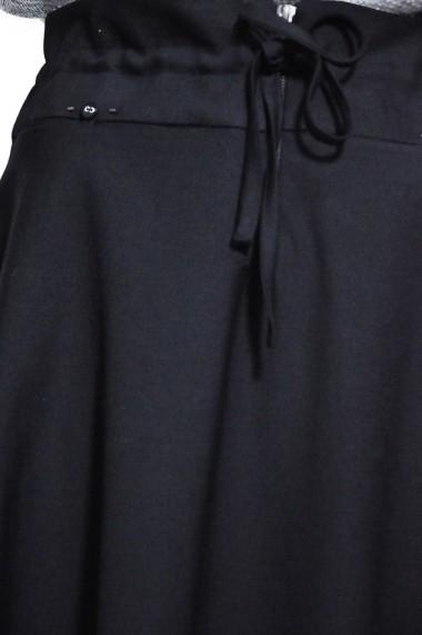 Fusta evazata RVL Fashion de dama, negru