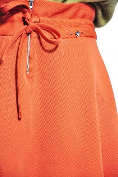 Fusta evazata RVL Fashion de dama, oranj