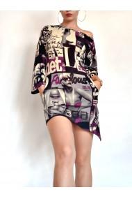 Rochie scurta asimetrica Fashion Dress